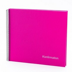 Goldbuch konfirmations album, pink