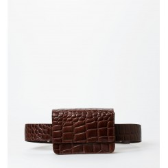 Petra Croco fanny pack / bæltetaske Brown