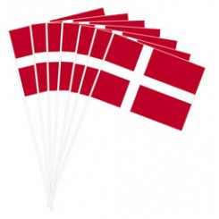 Flag på pind, 10stk. stor