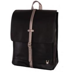 Unkeeper læder rygsæk, sort