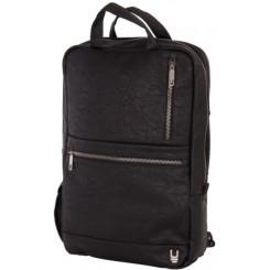 Unkeeper læder rygsæk aflang, sort
