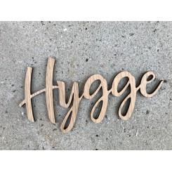 Træ skilt - HYGGE