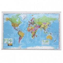 Vægkort Verden 137x87cm