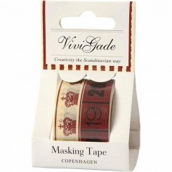Masking Tape, B: 15 mm, Copenhagen, 2x5 m