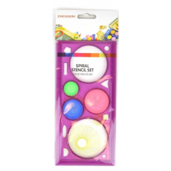 Spiral tegnesæt plast, lilla