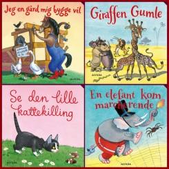 Elefantastiske børnesange - Gaveæske med 4 papbøger