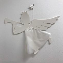 Christiansfeld engel, mega, hvid