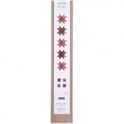 Stjernestrimler, B: 15+25 mm, rød, glitter og lak, 40 ass., L: 44+86 cm
