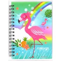 Notesbog, 11x15cm, Flamingo