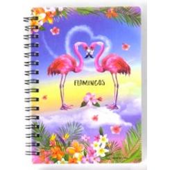 Notesbog, 11x15cm, Flamingo par