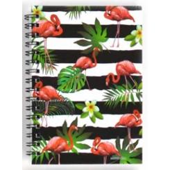 Notesbog, 11x15cm, Flamingo striber