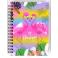 Notesbog, 11x15cm, Flamingo love