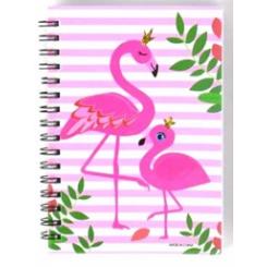 Notesbog, 11x15cm, Flamingo mor & barn