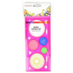 Spiral tegnesæt plast, pink