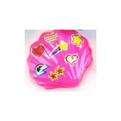 Havfrue i skal med sticker, pink