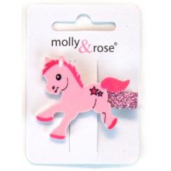 Hårclips pony, lyserød