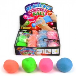 Stress bold strækbar 6cm, pink