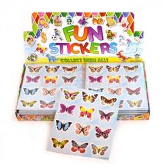 Klistermærker, sommerfugle