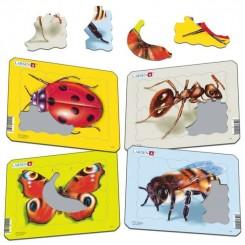 Puslespil insekter 8-10 brikker, sommerfugl