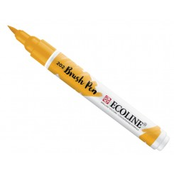 Ecoline watercolor brush pen, Deep Yellow / 202