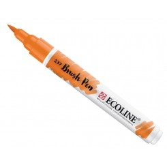 Ecoline watercolor brush pen, Deep Orange / 237