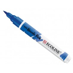 Ecoline watercolor brush pen, Ultramarine Deep / 506