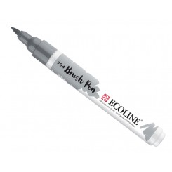 Ecoline watercolor brush pen, Grey / 704