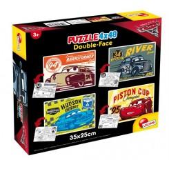 Puslespil Disney Cars 4 x 48