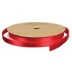 Satinbånd, B: 3 mm, rød, 10 m