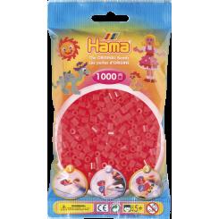 Hama MIDI perler, 1000 stk., neon rød