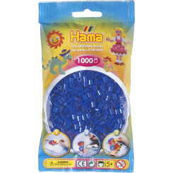 Hama MIDI perler, 1000 stk., neon blå