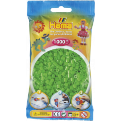 Hama MIDI perler, 1000 stk., fluorescerende grøn