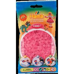 Hama MIDI perler, 1000 stk., rosa transparent