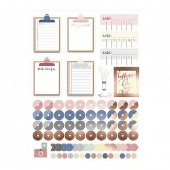 Klistermærker, Bullet Journal, pastel, clipboard