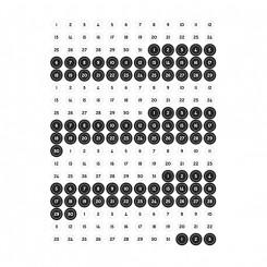 Klistermærker, Bullet Journal, sort