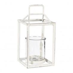 Lanterne Antique white m. glas