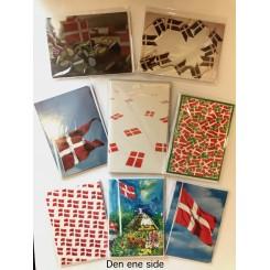 4 dobbeltkort m. kuvert - Flag