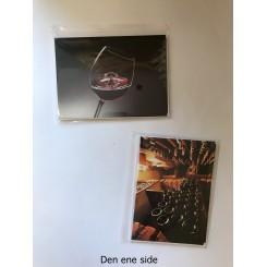 4 dobbeltkort m. kuvert - Vin