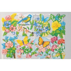 Glansbilleder blomster 1589