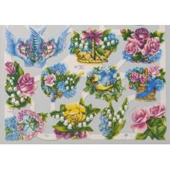 Glansbilleder blomster 1611
