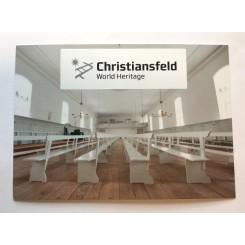 Postkort - Christiansfeld - Hvid