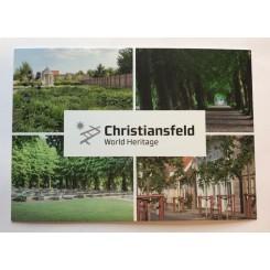 Postkort - Christiansfeld - Grøn