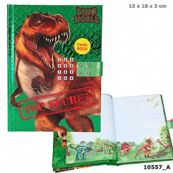 Dino World dagbog m. kode og musik