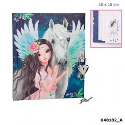 FANTASYModel Dagbog m/lås, Pegasus