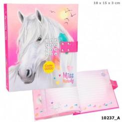 Miss Melody Dagbog m/kode & musik, pink