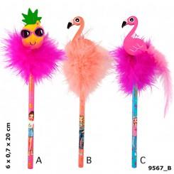 TOPModel Blyant m/ viskelæder Flamingo