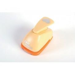 Easy punch orange buttet hjerte, small