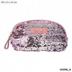 Trend LOVE penalhus m/pailletter, lyserød