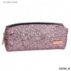 TOPModel Tube Penalhus m/glitter, pink