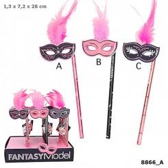 FANTASYModel Blyant m/maske og fjer